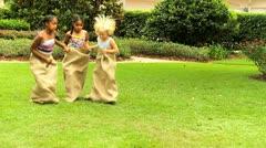 Multi Ethnic Children Fun Races Stock Footage