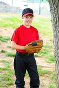 Youth baseball player portrait Stock Photos