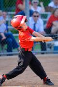Little league batter Stock Photos
