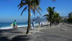 Ipanema Beach Rio de Janeiro. Stock Footage