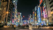 Time lapse of the busy city of Tokyo at night Stock Footage