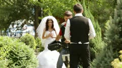 Wedding film maker Stock Footage