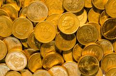 background of golden coins - stock photo