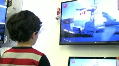 Child and technology Stock Footage