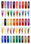 collection of finger nails cutout - stock photo