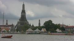A Royal Barge at Wat Arun Bangkok p131 Stock Footage