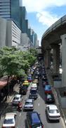 Heavy traffic in bangkok Stock Photos