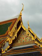 thai temple roof - stock photo