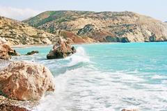 Aphrodite's legendary birthplace in cyprus Stock Photos