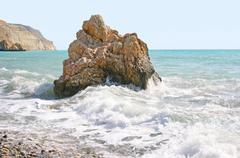 aphrodite's legendary birthplace in cyprus - stock photo