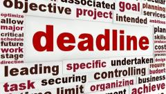 Deadline creative words conceptual design Stock Footage