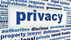 Privacy word clouds animation Stock Footage