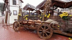 Old cart transport. Stock Footage