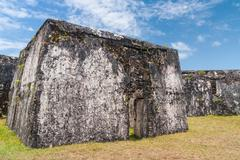 Ruins of fortification Stock Photos
