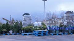 Parking Lot Nursery Stock Footage
