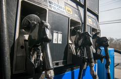 gas station pump - stock photo