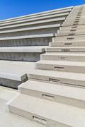 Concrete stairs in modern amphitheater Stock Photos