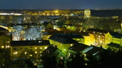Nykoping city, time-lapse - stock footage