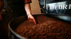 Freshly Roasted Coffee Stock Footage