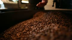 Freshly Roasted Coffee Stock Footage