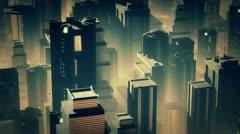 Metropolis Aerial 2 Stock Footage
