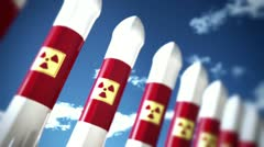 Nuclear Rockets 2 720 Stock Footage