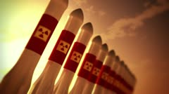 Nuclear Rockets 10 - stock footage