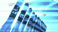 Nuclear Rockets 11 720 - stock footage
