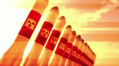 Nuclear Rockets 12 Stock Footage