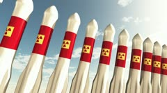 Nuclear Rockets 13 Stock Footage