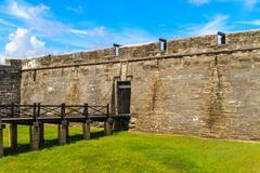 st. augustine fort, castillo de san marcos national monument - stock photo
