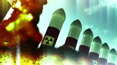 Nuclear Rockets Launch 2 720 - stock footage