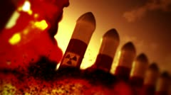 Nuclear Rockets Launch 3 720 - stock footage