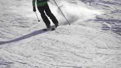 SLOW MOTION: skiing Stock Footage