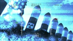 Nuclear Rockets Launch 4 720 - stock footage