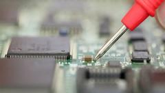 Circuit board check Stock Footage