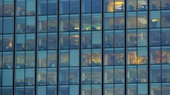Business building at night - stock footage