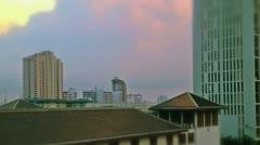 Bangkok buildings tilt-shift, timelapse Stock Footage