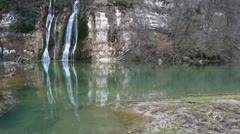 River Valsarine Waterfall Stock Footage