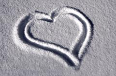snowheart - stock photo