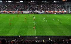 Stock Photo of mexico vs. netherlands international friendly soccer match