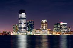 Jersey city skyline Stock Photos