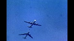 B52 - Tanking Air Stock Footage