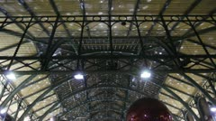 Covent Garden Indoor Xmas Lights 2012 Stock Footage
