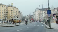 Getting Dark Budapest Hungary Winter Timelapse 4 zoom Stock Footage