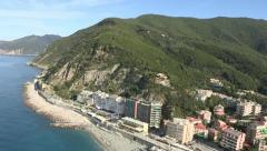 Aerial view of Moneglia Stock Footage