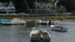 New England Boat yard Stock Footage