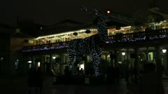 Covent Garden Outdoor Xmas Decorations 2012 Stock Footage