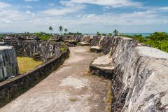 ruins of fortification - stock photo