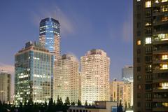 Shanghai nocturne - stock photo